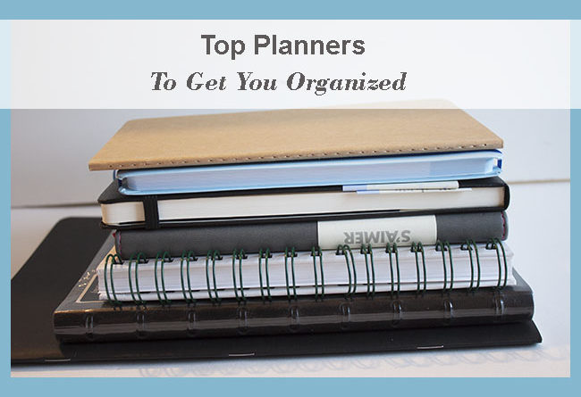 Pile of personal planners