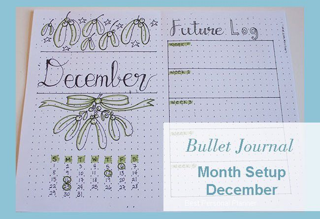 Bullet Journal December cover page