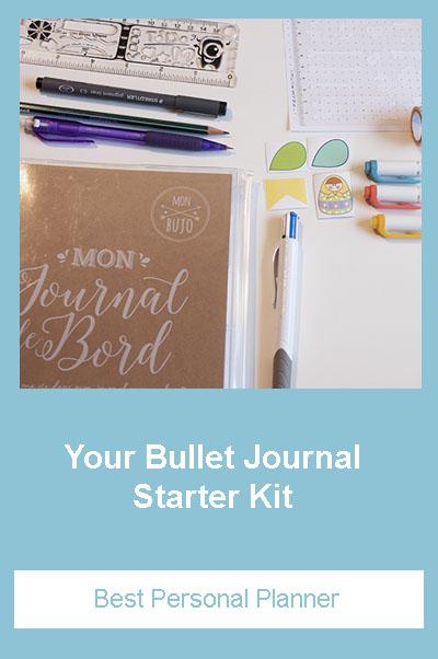 Bullet Journal supplies starter kit